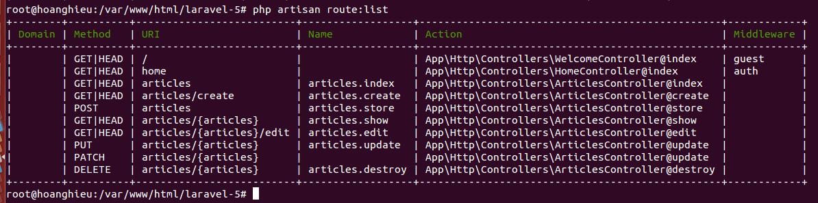 Laravel 5 : Cập nhật dữ liệu Form trong Laravel 5