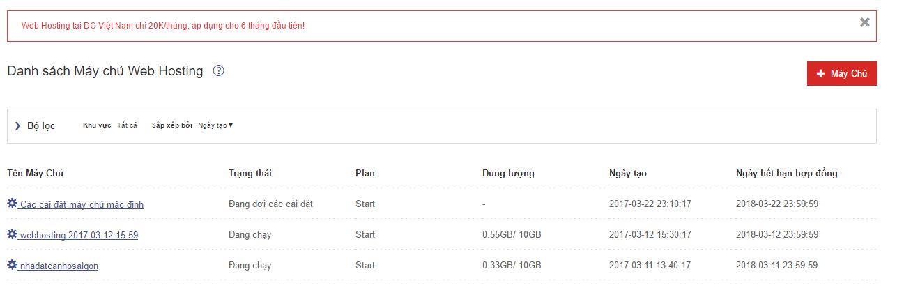 Danh sách máy chủ Zcom - đánh giá hosting zcom