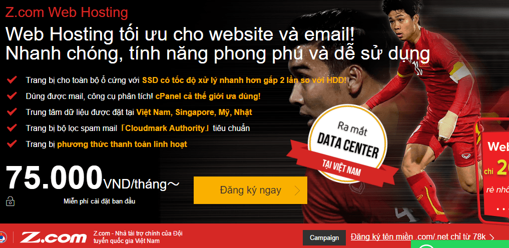hướng dẫn đăng ký hosting z.com khuyến mãi