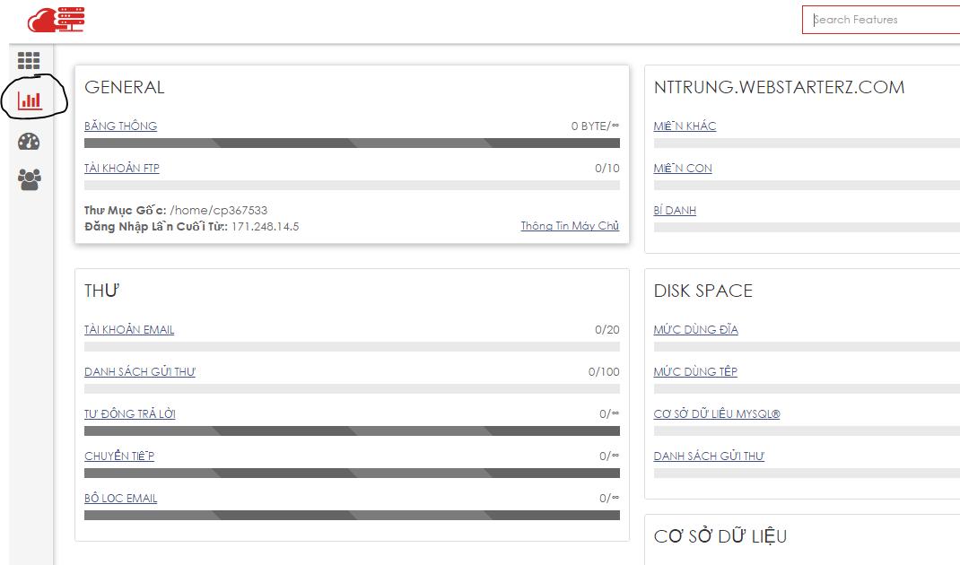 Thông tin máy chủ hosting Zcom hướng dẫn sử dụng hosting Zcom