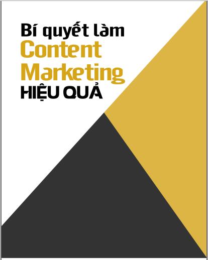 Ebook bí quyết làm content marketing hiệu quả