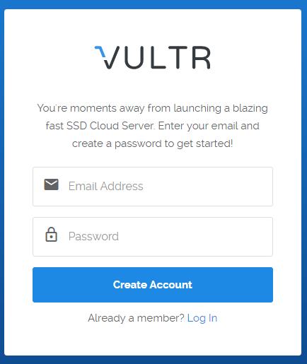 Đăng ký tài khoản vps vultr