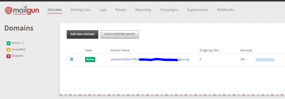 Domain mailgun