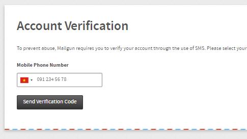 xác nhận số điện thoại mailgun