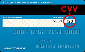 3 số cuối của thẻ Visa