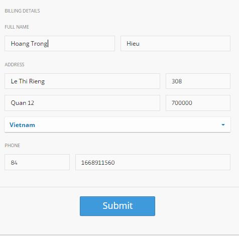 Điền thông tin chi tiết hóa đơn