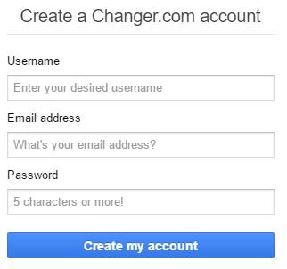 Điền thông tin tạo tài khoản changer Ethereum - Mua Ethereum giá rẻ tại changer
