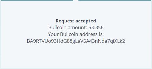 Số Bullcoin nhận được