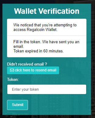 Điền mã Token gửi đến email