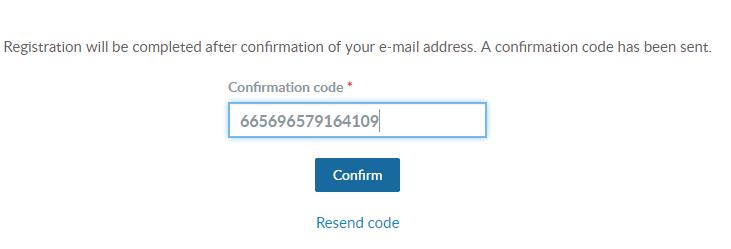 Điền mã xác nhận vào ô Confirm