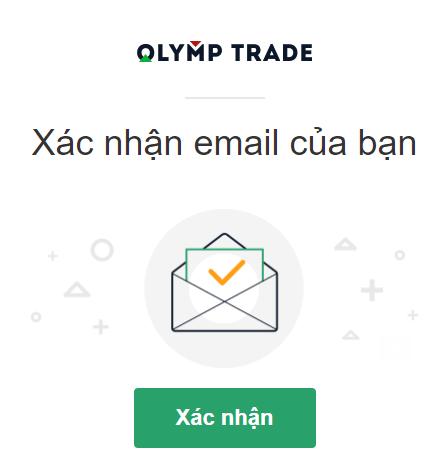 Xác nhận địa chi email Olymp Trade