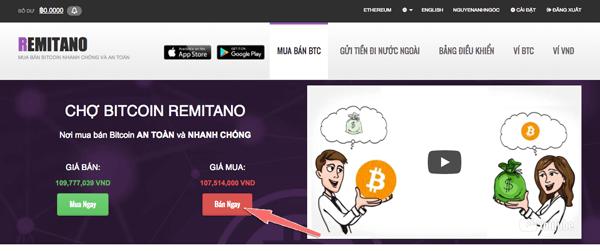 Bán tiền ảo lấy tiền thật với Remitano 01