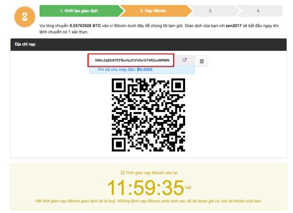 Copy địa chỉ ví bitcoin remitano