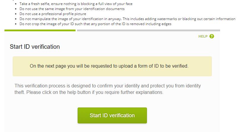 Bắt đầu xác thực Enhanced Verification