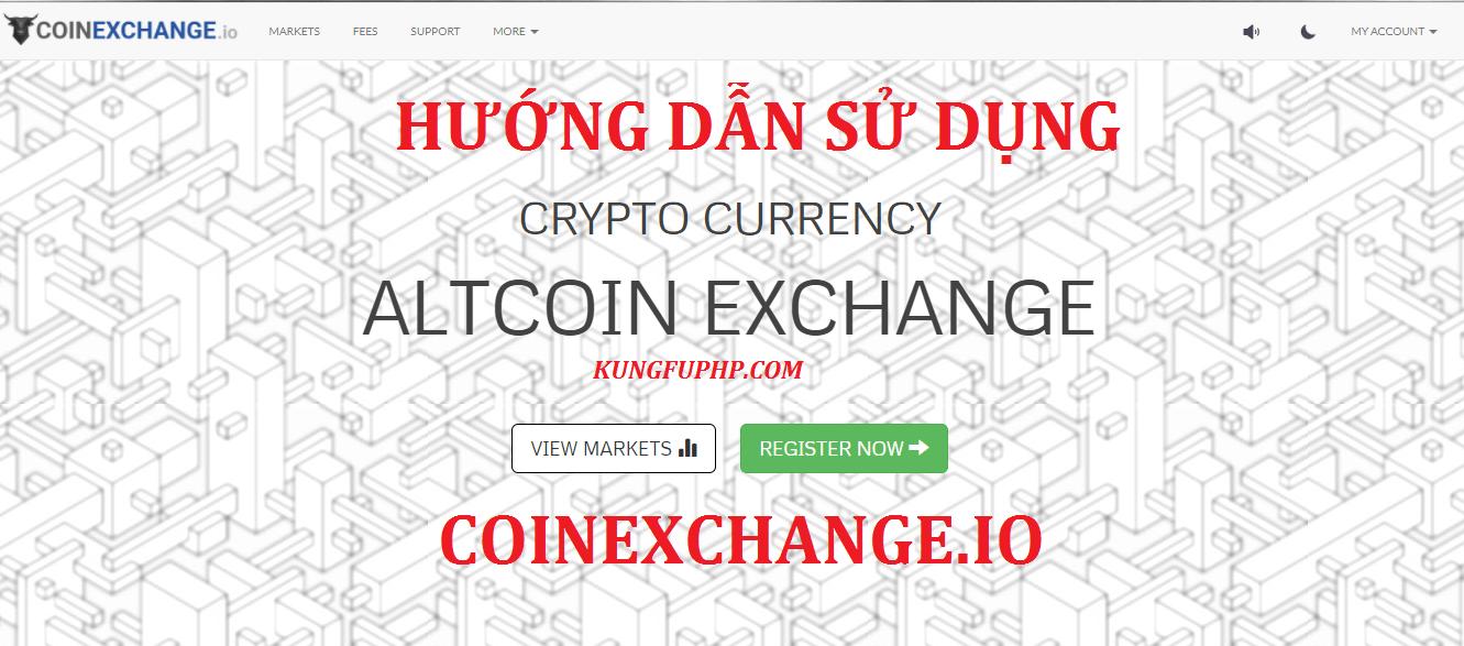 hướng dấn sử dụng coinexchange