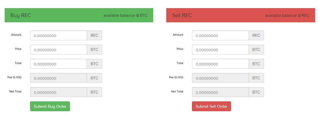 Tiến hành giao dịch mua bán RegalCoin