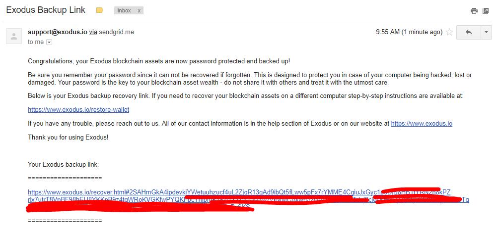 Email lưu trữ khôi phục Exodus