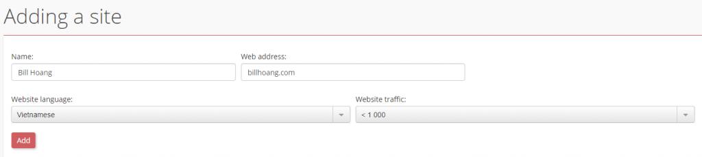 Thiết lập thông số cho website của bạn