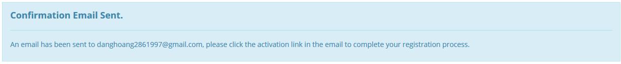 vào email để xác nhận tài khoản