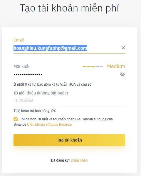 đăng ký tài khoản binance - Hướng dẫn sử dụng sàn Binance