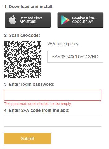 Confirm mã 2fa binance