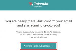 Xác thực địa chỉ email TokenAd