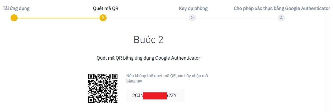 Mở ứng dụng Authy và quét mã QR code trên Binance