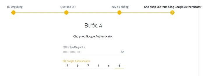 Điền mật khẩu đăng nhập và mã 2FA trên Authy vào