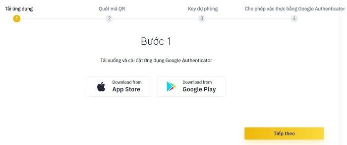 xác thực bảo mật 2FA Google - Hướng dẫn sử dụng sàn Binance