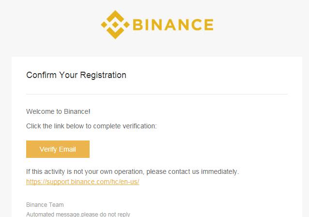 Xác thực tài khoản sàn binance