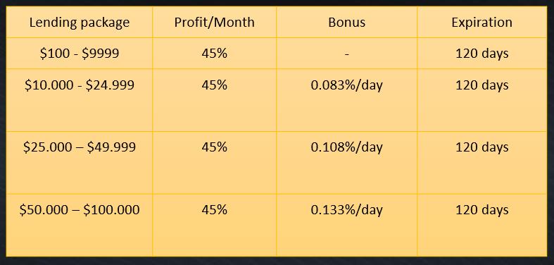 Các gói đầu tư Poly AI