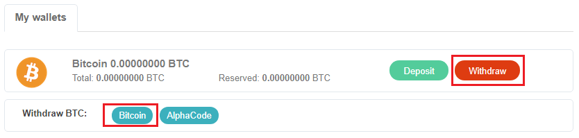 Tiến hành rút Coin