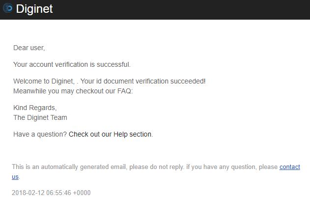 Email thông báo xác thực hồ sơ thành công