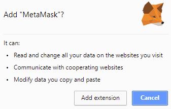Thêm tiện ích MetaMask vào Chrome
