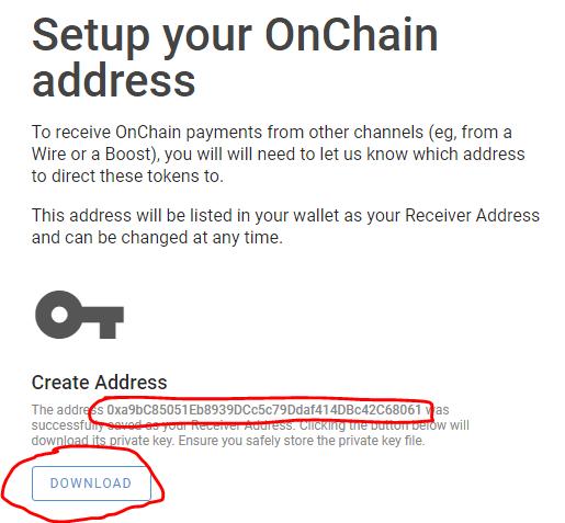Tạo ví Onchain cho Minds Token