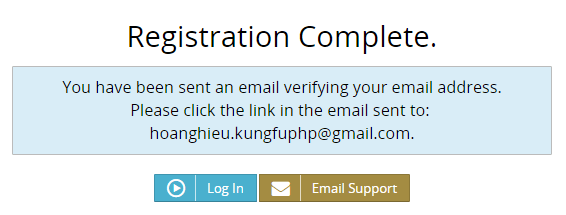 Thông báo xác thực địa chỉ email Bitmex