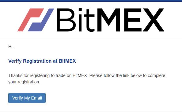 Xác thực địa chỉ email sàn Bitmex