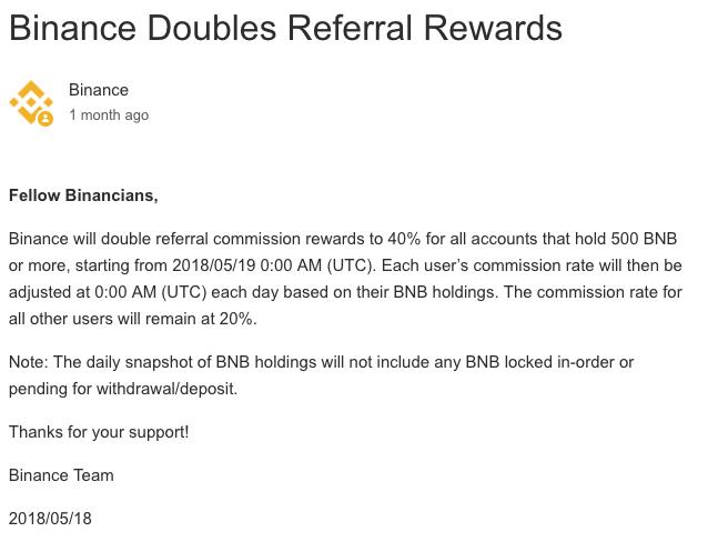Tăng gấp đôi phần thưởng giới thiệu Binance