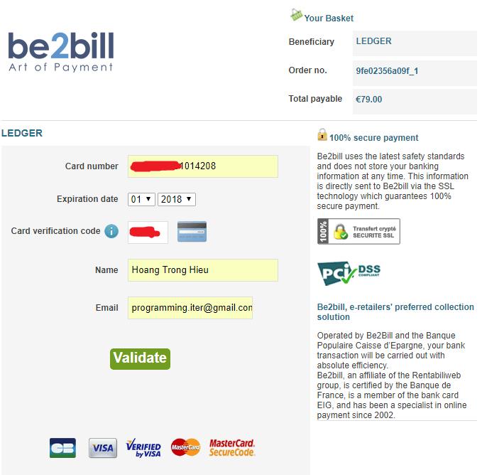 Điền thông tin thẻ visa của bạn
