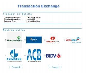 Danh sách các ngân hàng Etoro hỗ trợ