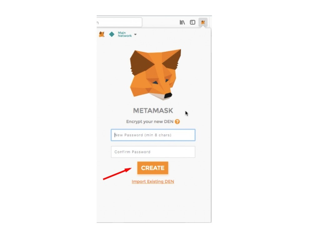 Tạo mật khẩu đăng nhập MetaMask