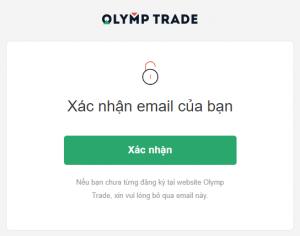 xác nhận email olymp trade