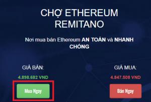 chọn mua ethereum trên remitano