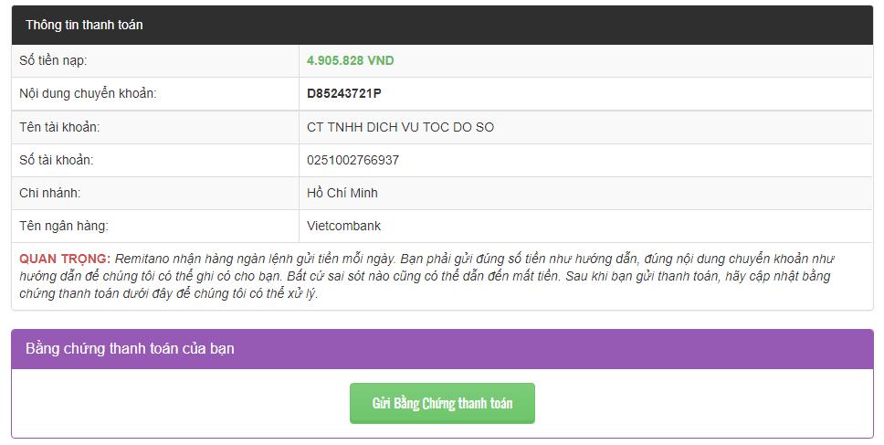 chuyển khoản internet banking mua ethereum