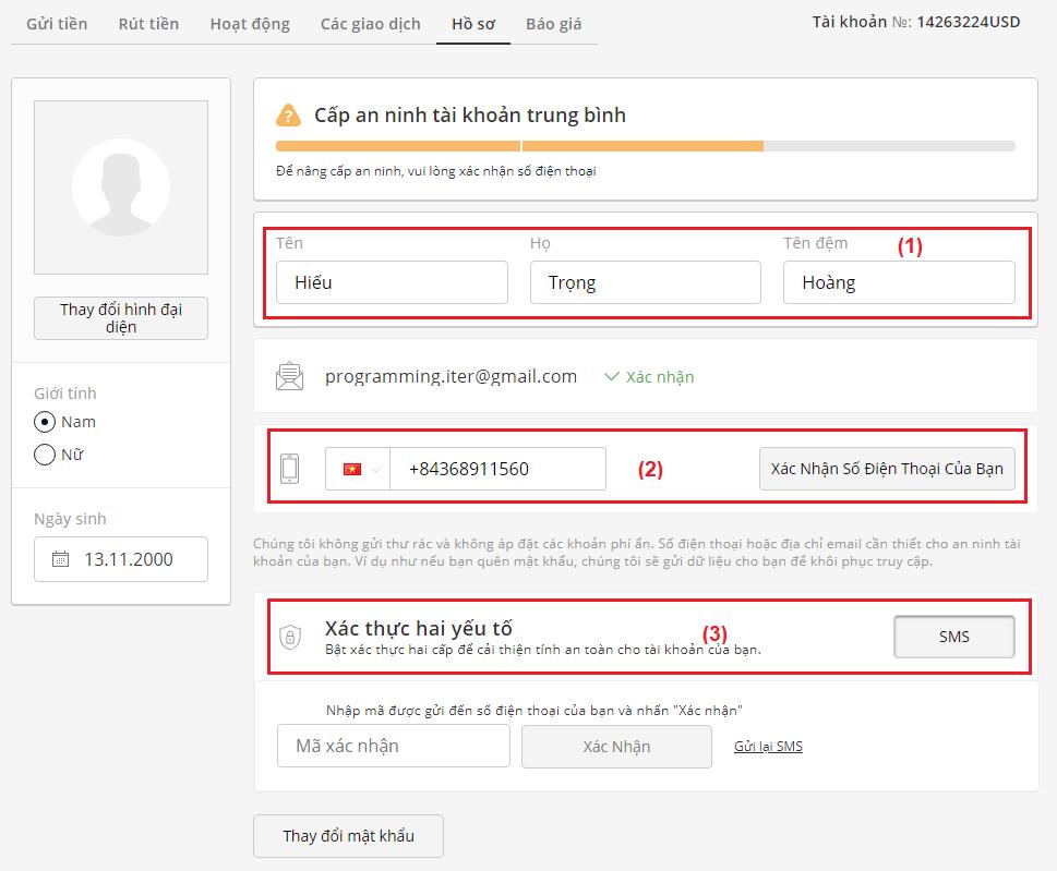 hướng dẫn xác thục tài khoản olymp trade cơ bản