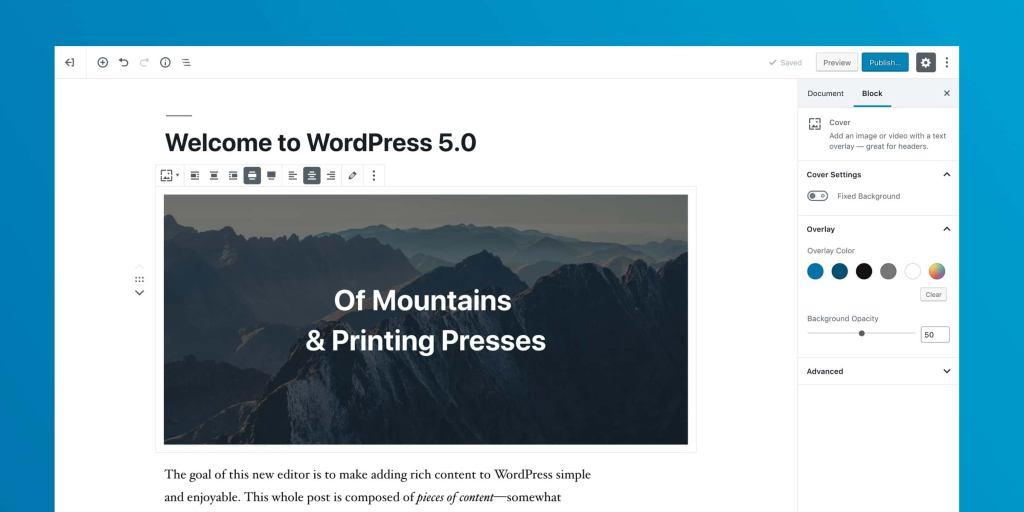 Giao diện trình soạn thảo mới của WordPress