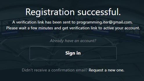 thông báo đăng ký tài khoản wins fun thành công