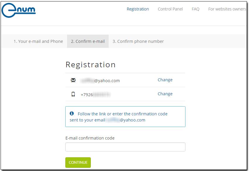 Xác thực địa chỉ email E-NUM