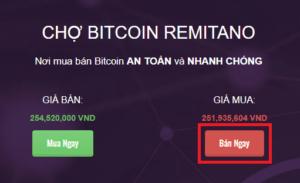 Hướng dẫn bán bitcoin lấy Việt Nam Đồng với Remitano