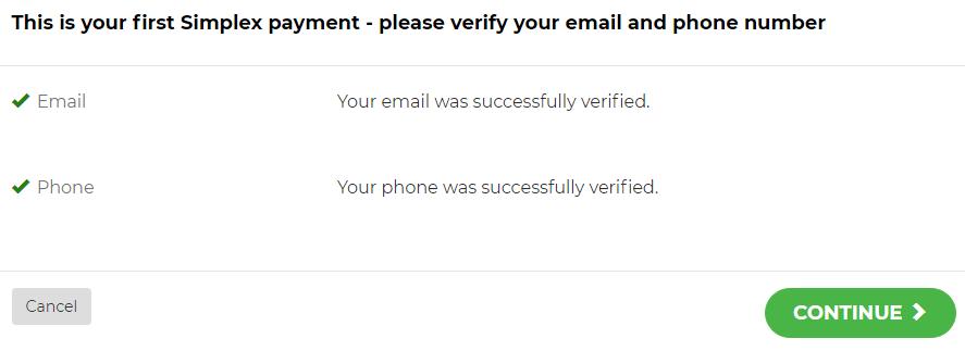 Hoàn thành xác thực email và số điện thoại để qua bước kế tiếp